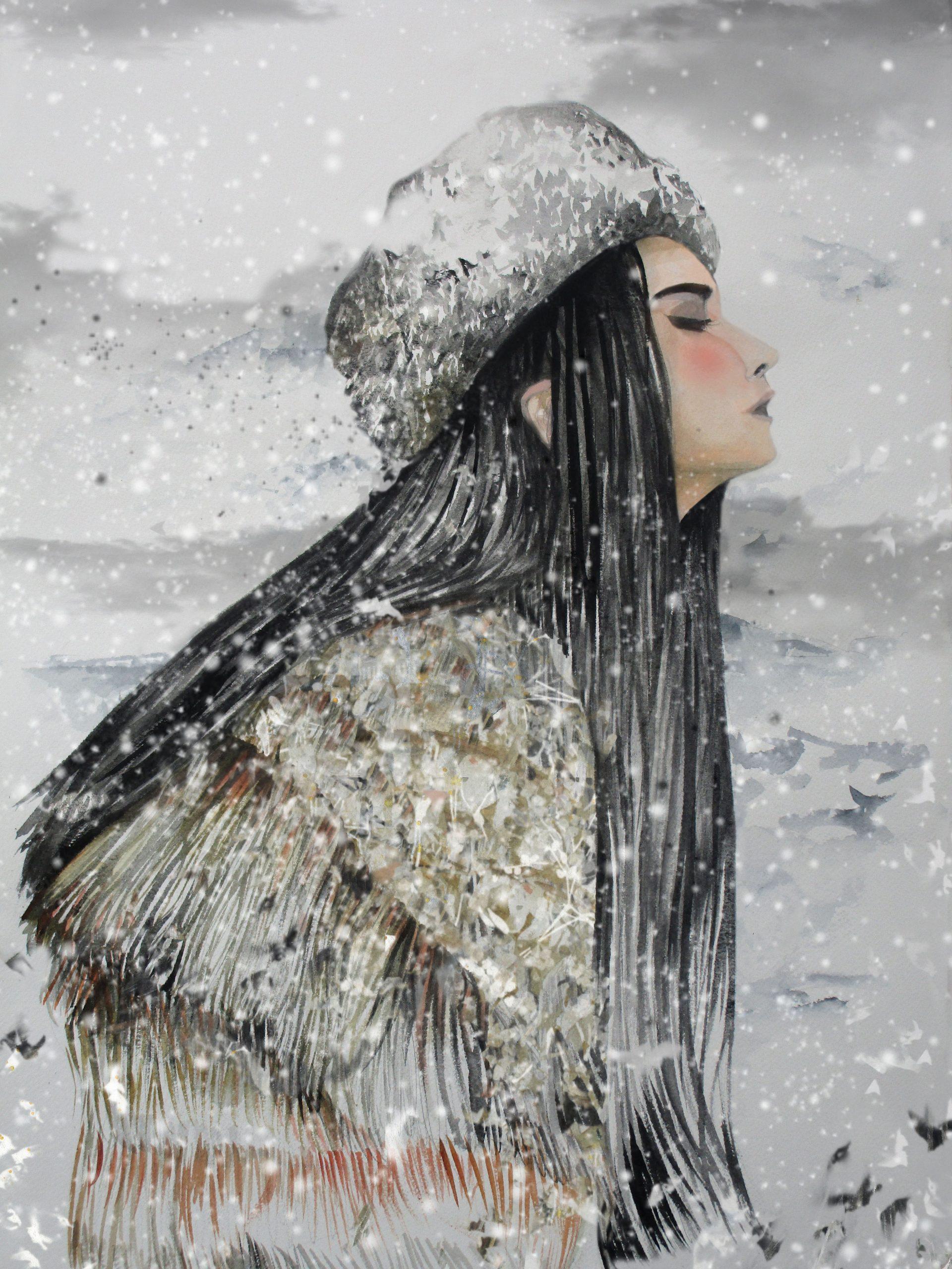 AlasKa. La terra és gran. Roques gegants caigudes del cel. El caos sobre l'aigua. Ja no hi ha pau. Homes i dones descontrolats. Bruts, indefensos, malgirbats. Bufa el vent que talla. I del nord arriba ella. La mare. Neva i els blancs ho enterren tot. Serenor eterna. La humanitat ja pot dormir com un infant.